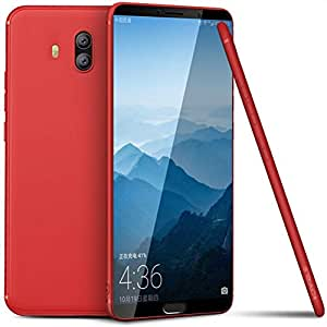 Huawei Mate 10 case Frosted Matte Soft TPU Silicone Back Cover-Red