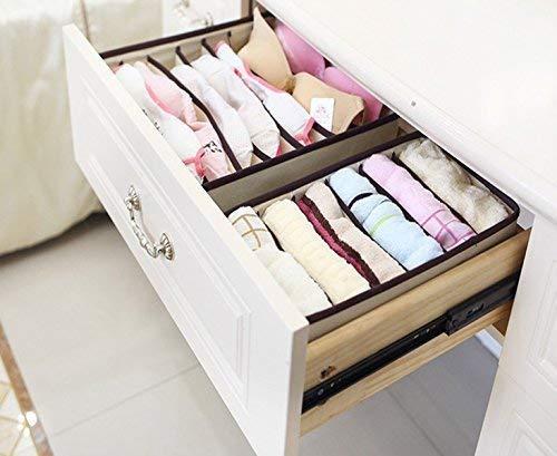 Joyfeel buy 4er Set Unterw/äsche Aufbewahrungsbox Schrank Organizer Schublade Organizer Aufbewahrung BH//Socken//Schals und Anderen kleinen Artikeln f/ür Damen (Beige
