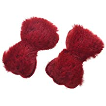 Special Beauty Nice Creative Cute Love Star Hair Clip Coloful Velvet Rabbit Hairpins Barrette Children Kids Plush Bow Faux Fur Hair Accessories Gift Bow Wine