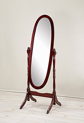 (Mirror MIRROR7028CHERRY Cheval Floor Oval)