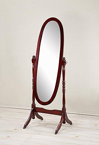 Mirror MIRROR7028CHERRY Cheval Floor Oval Cherry ()