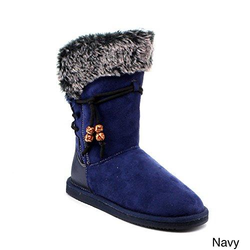 Reneeze Rose-10 Women Fashion Mid-Calf Winter Snow Boots Fau