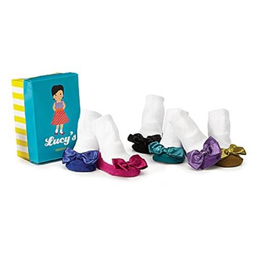 TRUMPETTE LUCY'S TODDLER BABY GIRL NON -SKID SOCKS 6 PRS Cute Gift 12-24 MONTHS, 1-2 YRS. ()