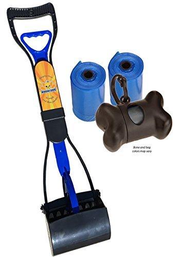 New Complete Poo Pack   Pooper Scooper, Poop Bags, and Pet Dog Waste Bag Holder (Blue) from Bodhi Dog