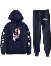Charli D'Amelio C-yber Cele-brity dansers bedrukt tweedelig sweatshirt winter hoodie trui + losse broek sets