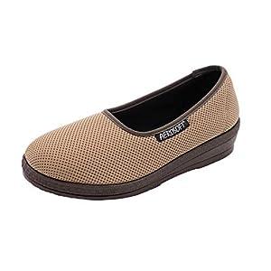 Aerosoft Ballerines élastiques pour femme – Largeur G-H – Sans pression – Convient pour les pieds sensibles et le hallux…