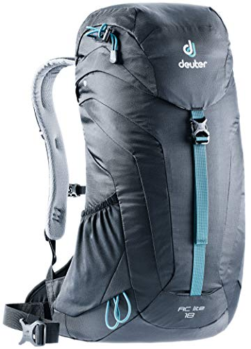 (Deuter AC Lite 18 Men's 18 Liter Backpack with Lightweight Steel Frame and Ergonomical Straps | Hydration Compatible, Ventilated Back and Rain Cover for Day Hikes - Black)