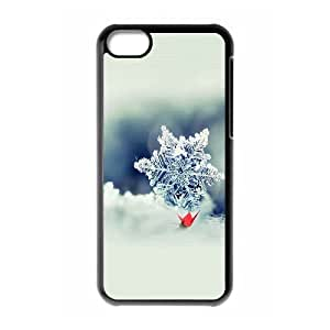 XiFu*Meiipod touch 4 Case,Snowflake Closeup Hard Shell Back Case for Black ipod touch 4 Okaycosama351623XiFu*Mei