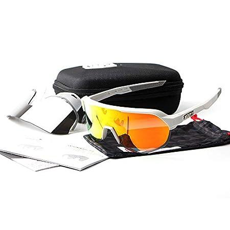 ANSKT Riding Glasses Three Pieces pour Hommes et Femmes Lunettes de Soleil de Protection UV400 l/ég/ères indestructibles au Ski adapt/ées au Surf et aux activit/és de Plein air au v/élo