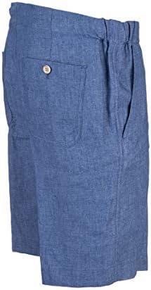 LORO PIANA Fashion Man FAI5747W07C Blue Linen Shorts | Spring Summer 20
