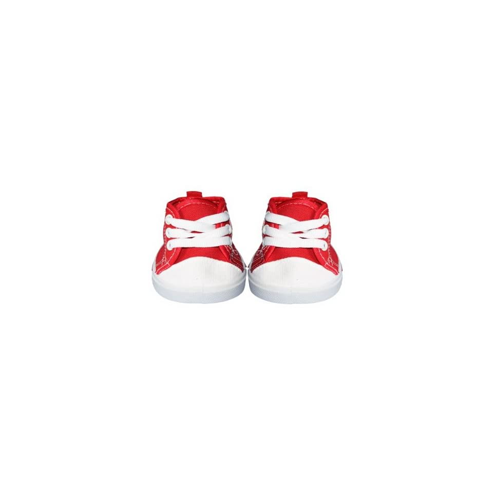 """Red Tennis Shoes Teddy Bear Clothes Fits Most 14""""   18"""" Build a bear, Vermont Teddy Bears, and Make Your Own Stuffed Animals Toys & Games"""
