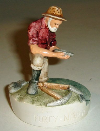 Sebastian Miniature -FORTY NINER -1981 Model # 2347 Handcast & Hand Painted By Woody Baston
