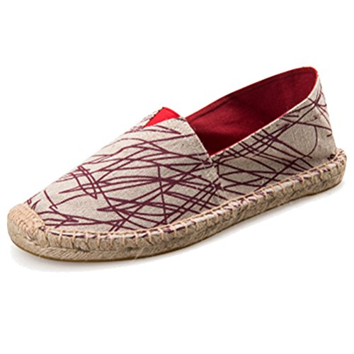 West See Unnisex Sommer Schuhe Slip-on-Sneaker Atmungsaktives mesh-oberfläche Schuhe herren Damen Aquaschuhe Strandschuhe Breathable Schlüpfen # 5 Rot