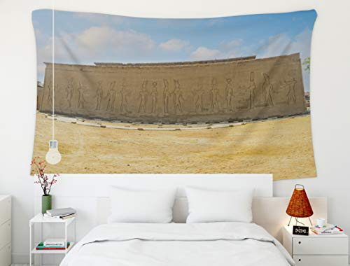 Crannel Easter October The Wall The Temple Decorated Scenes Life Ancient Gods October in Egypt 2014 Massive Tapestry 60x50 Inches Wall Art Tapestries Hanging for Dorm Room Living Home ()