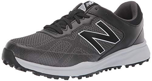 New Balance Men's Breeze Golf Shoe, Black/Grey, 13 2E 2E US