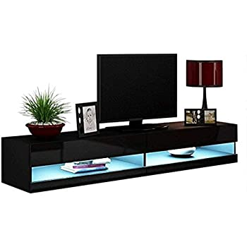 Amazon Com Concept Muebles 80 Inch Seattle High Gloss Led