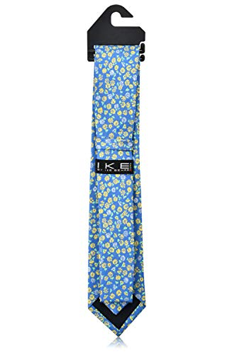 Ike Behar Boys 52'' Baby Blue And Yellow Floral Tie by Ike Behar (Image #3)