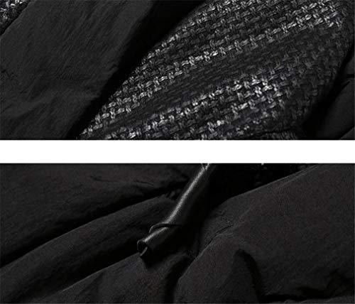 Tenere America z Sezione Imbottitura Da nero Bianco Confortevole Anatra Europa Colletto Lunga Donna E Piumino Bianca Elegence Caldo In 4vnqWB4