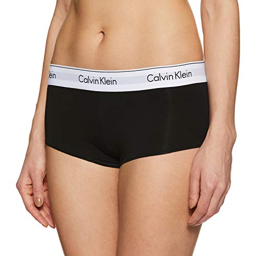 Calvin Klein Women's Regular Modern Cotton Boyshort Panty, Black, - Boyshort Black Set