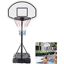 Pool Basketball Hoop Goal Net Games Sports Backboard Poolside Swimming Water - Ring Height: 0.9m to 1.2m