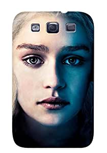 AwpwKg-4148-TrXWp Tpu Phone Case With Fashionable Look For Galaxy S3 - Game Of Thrones Daenerys Targaryen Blonde Emilia Clarke Face Tyrion Lannister Peter Dinklage Rob Stark Richard Madden Case For Christmas Day's Gift