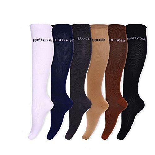footloose-unisex-compression-knee-high-socks-6-pack