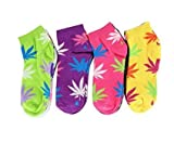 Wholesale 120 Pairs Women's Marijuana Weed Casual Ankle Cut Socks