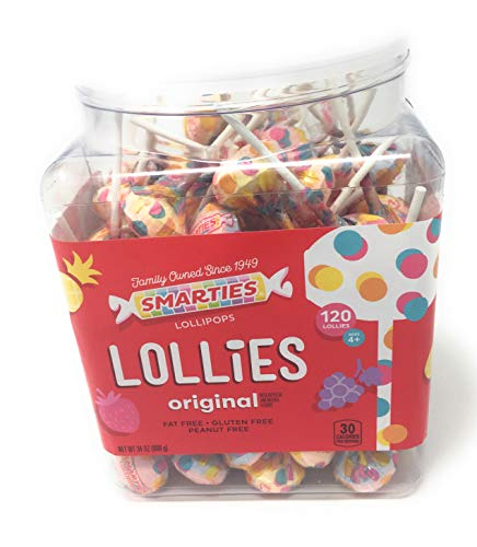 Ce De Candy Inc Smarties Pops 120 Piece Jar