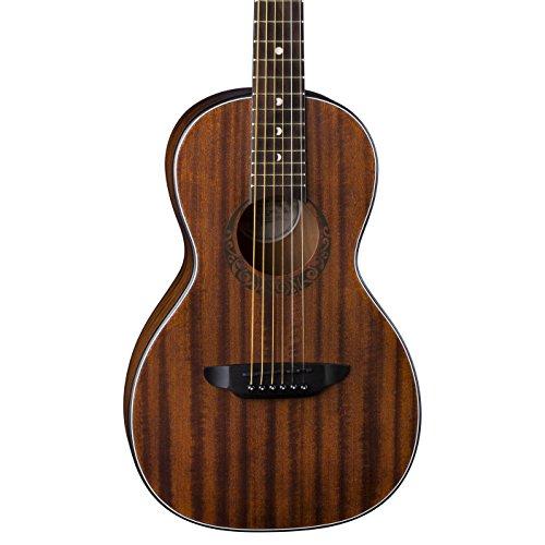 Luna Gypsy Muse Parlor Acoustic Guitar, Mahogany