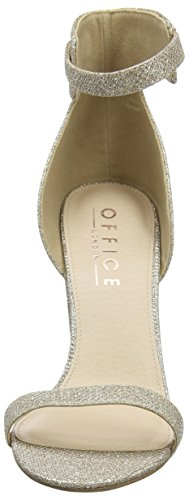 Zapatos rose Pink Mujer Office Hip Lurex Tacon Para Correa Tobillo Gold Con W De Y qExwx4SC