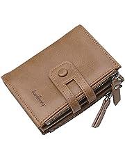 محفظة جلد صناعي بثلاث طبقات للجنسين من بايليري - بني