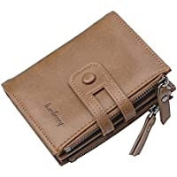 Brown faux Leather wallet for Unisex