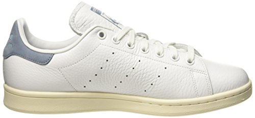 Adidas Heren Stan Smith Heren Witte Lederen Sneaker Wit / Tacblue