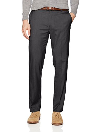 Dress Gray Charcoal Pants (Van Heusen Men's Air Straight Fit Pant, Charcoal, 34W X 32L)