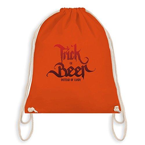 Shirtracer Halloween - Trick or Beer Halloween Typo - Turnbeutel I Gym Bag Orange