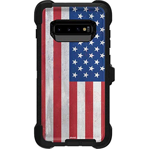 - Skinit American Flag Distressed OtterBox Defender Galaxy S10 Plus Skin - American Flags OtterBox Case Decal - Ultra Thin, Lightweight Vinyl Decal Protection