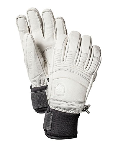 Hestra Men's Leather Fall Line 5 Finger Glove, Off White, Size 8 by Hestra