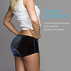 Twotwowin Double Elasticity Cycling Underwear CK901, Women's Bike Underwear, Breathable and Lightweight Biking Shorts With 3D Padded For Spin Class Bicycle Riding Biking (XS:Waist 22.4-27.1in)