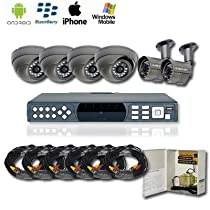 6 CHANNEL SURVEILLANCE SECURITY CAMERA COMPLETE PACKAGE - WITH 500GB HDD