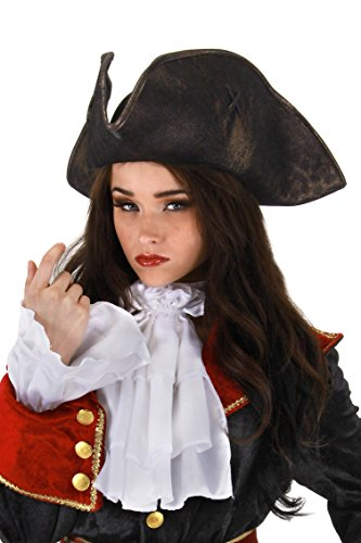 Elope Scallywag Pirate Tricorn Costume Hat for Men & Women ()