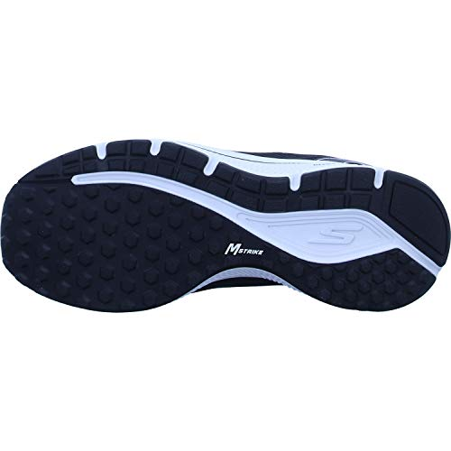 Skechers mens Go Run Consistent - Performance Running & Walking Shoe Sneaker, Black/Black/White, 7 X-Wide US