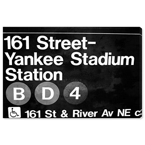 The Oliver Gal Artist Co. Cities and Skylines Wall Art Canvas Prints 'Yankee Stadium' Home Décor, 15