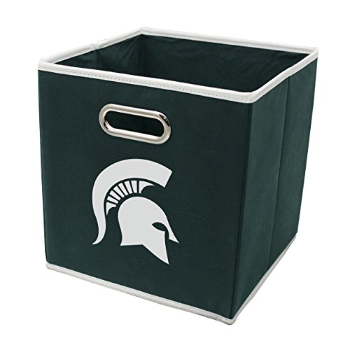 Michigan State Spartans Collapsible - Franklin Sports Michigan State Spartans Collapsible Storage Bin - Made to Fit Storage Bin Shelf Organizers - 10.5