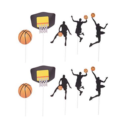 UPKOCH 25 piezas de decoración para pasteles de baloncesto ...