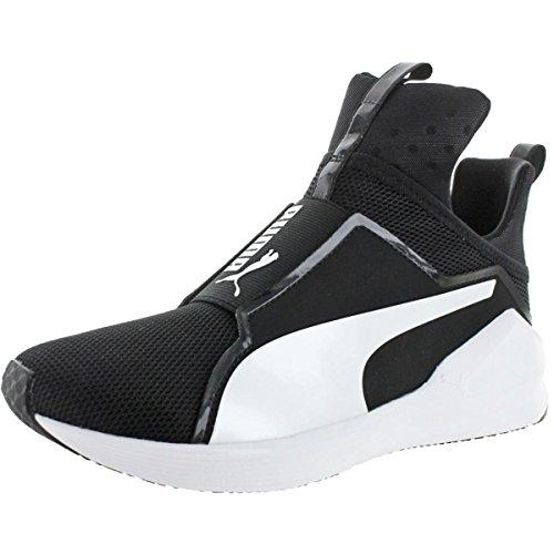 PUMA Women's Fierce Core Sneaker, Black White, 10 M - 10 Shoes Size Womens Puma