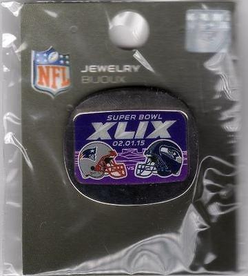 2014 SUPER BOWL XLIX 49 PIN SUPERBOWL SEAHAWKS VS. PATRIOTS DUELING TEAMS PIN (New England Super Bowl 49 Pin)