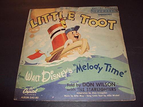 Walt Disney Little Toot Melody Time Capitol Das-80 1952 NM