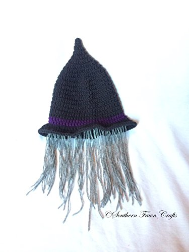 (Witch/Warlock hat with wig child size )