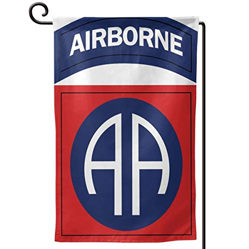 SISA Army 82nd Airborne Division Home Flag Outdoor Garden Flags Decor 12.5x18 Inch Pattern Double-Sided Printing Ensign