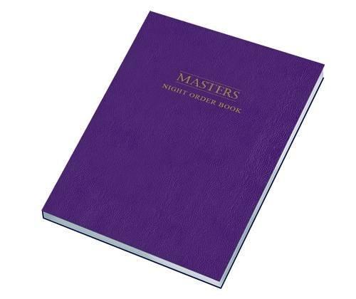 Masters Night Order Logbook (Log Books)